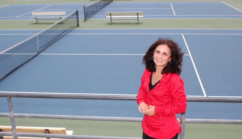 Lucia Romanov, a retired professional tennis player from Romania, is the new coach of the La Jolla High School girls varsity tennis team. She replaces outgoing coach Lisa Shih.