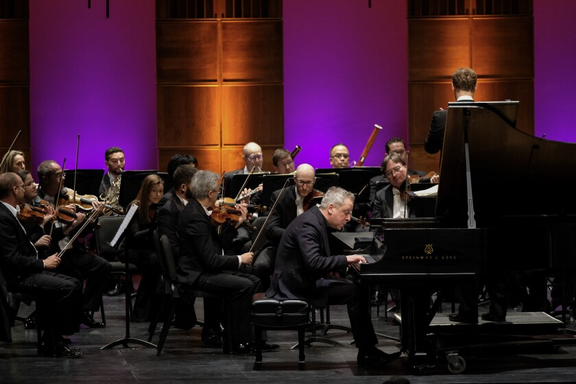 Pianist Jeremy Denk with the Mainly Mozart Festival Orchestra
