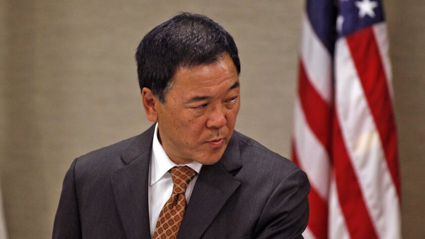 """Paul Tanaka surrendered to authorities Thursday after being indicted by a federal grand jury investigating excessive force and corruption in L.A. County jails. His attorney says the charges are """"baseless."""""""