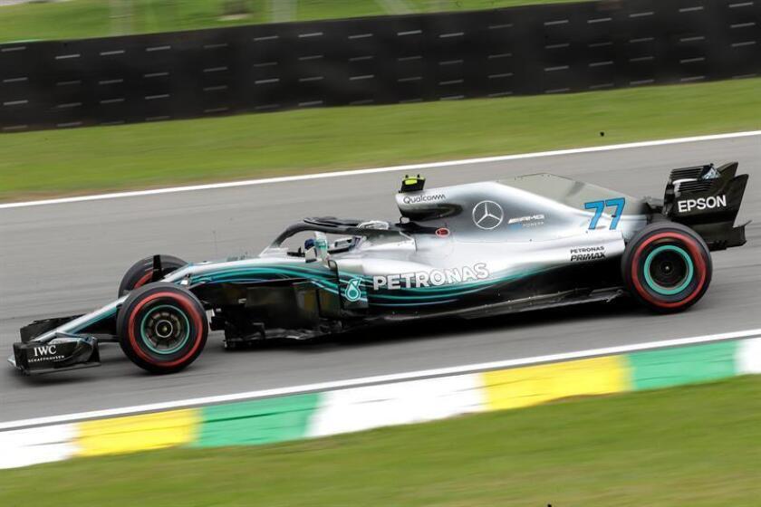 Finnish Mercedes driver Valtteri Bottas in action during the second practice session for the Brazilian Grand Prix in Sao Paulo, Brazil, on Nov. 9, 2018. EPA-EFE/SEBASTIAO MOREIRA