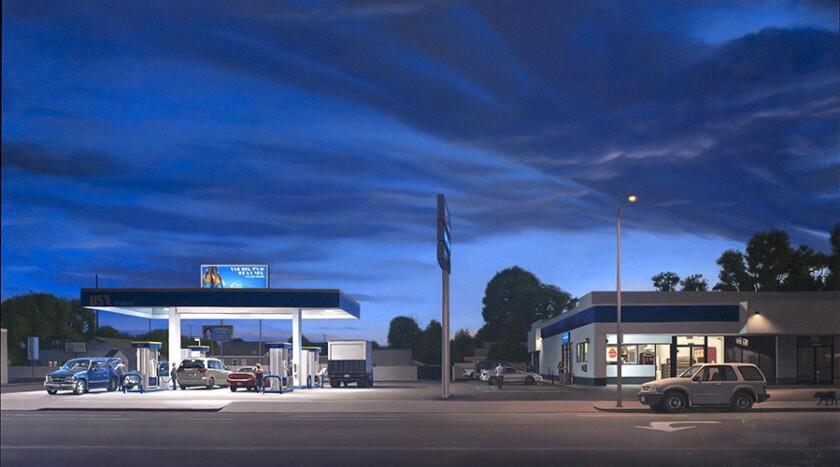 """Marc Trujillo, """"14114 Vanowen Blvd.,"""" 2013, oil on polyester over aluminum."""