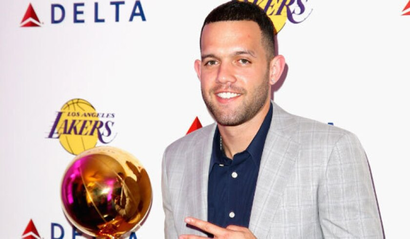 Jordan Farmar, shown at a Delta Air Lines event in Beverly Hills last month, returned to the Lakers this off-season after winning two NBA championships with the team in 2009 and 2010.