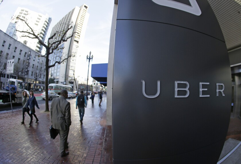 Uber headquarters in San Francisco last year.