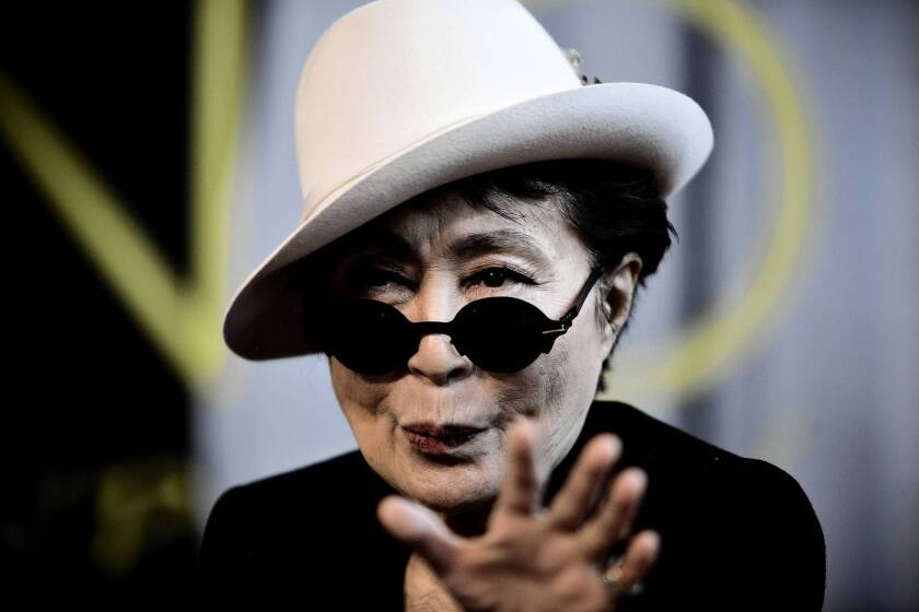 """Yoko Ono's new book is """"Acorn,"""" a collection of thoughts."""