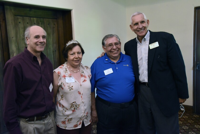 Chief Assistant Governor Steve Weitzen, Judy Gallegos, Rotary District 5340 Governor Mel Gallegos, RSF Rotary President Michael Taylor