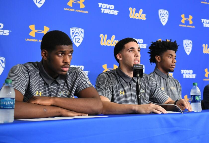 UCLA basketball players press conference