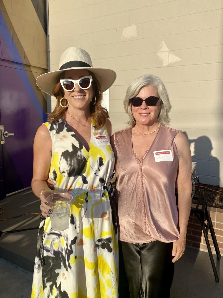 Murals of La Jolla art advisory committee chairwoman Patsy Marino and Murals of La Jolla Executive Director Lynda Forsha
