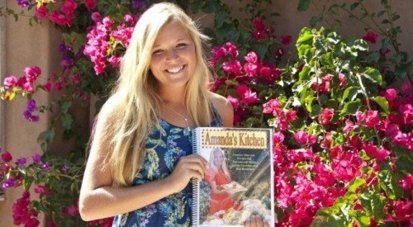 "Canyon Crest Academy sophomore Amanda Presar, author of 'Amanda's Kitchen."""