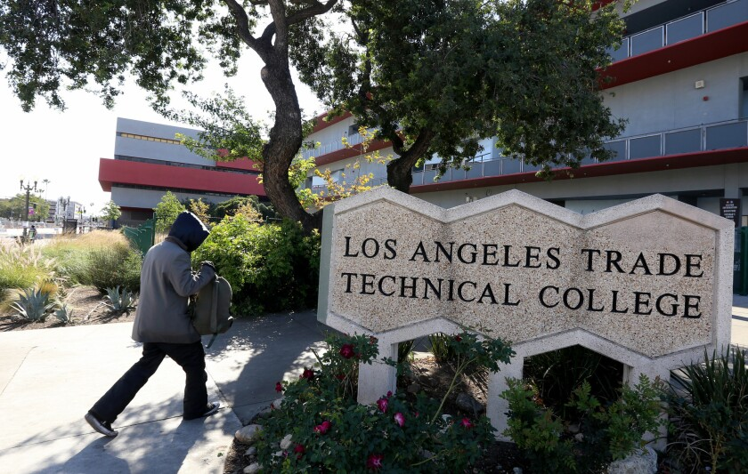 Los Angeles Trade Technical College, shown in 2018, is one of nine campuses in the Los Angeles Community College District.