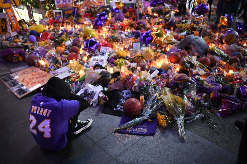 Kobe Bryant memorial outside Staples Center