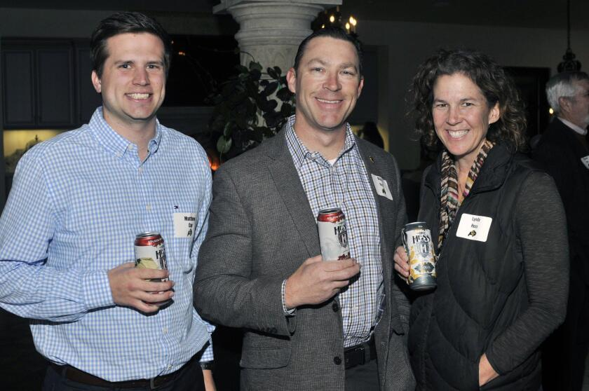 Matthew Cox, Mike and Lynda Hess enjoying their www.MikeHessbrewing.com craft beers