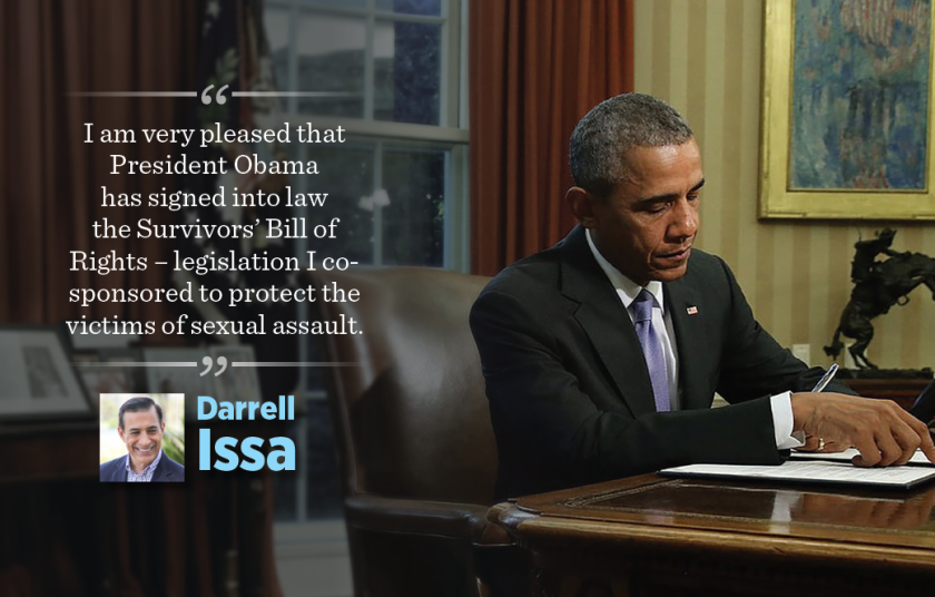 Darrell Issa thanks President Barack Obama in a campaign mailer.