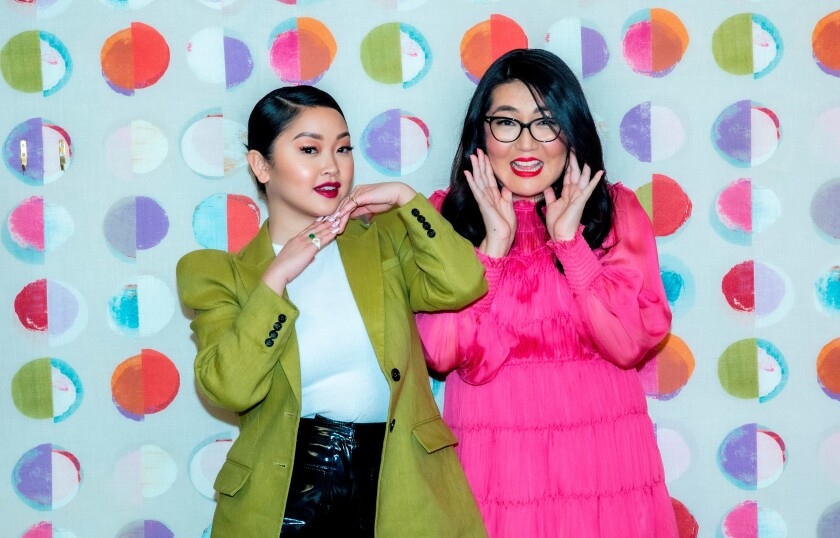 """To All The Boys: P.S. I Still Love You"" star Lana Condor, left, and author Jenny Han, photographed at the Whitby hotel in New York City."
