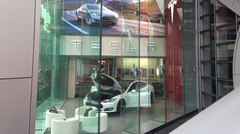 A Tesla store in Beijing, one of 24 stores and service centers in China.