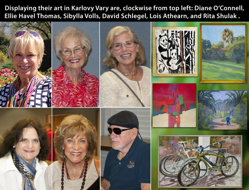 A group of artists in the Carlsbad-Oceanside Art League were invited to exhibit work in the Czech Republic's Karlov Vary, a sister city of Carlsbad.