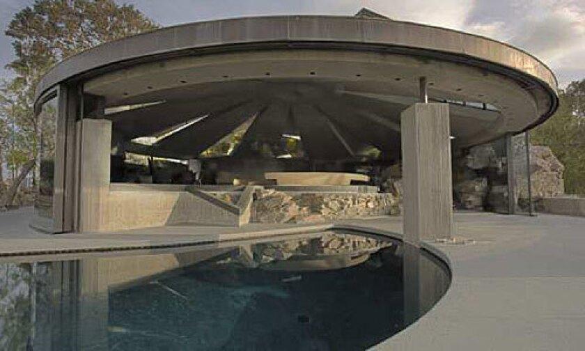SPACE SHIP: The John Lautner-designed Elrod residence in Palm Springs, Calif.