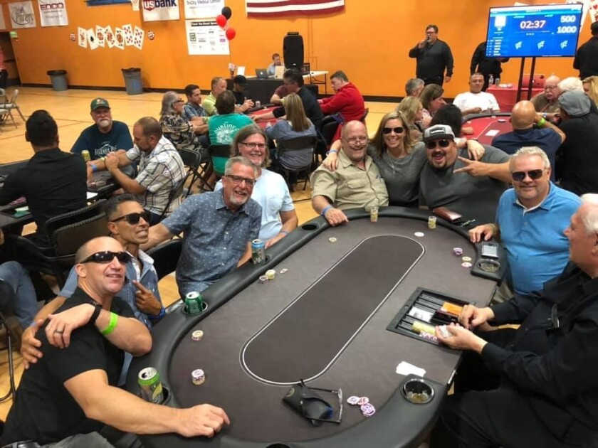 The Boys & Girls Club of Vista hosted their third annual Texas Hold 'Em Poker Tournament and raised $21,000 for the Club's youth programs for academic achievement, character development and healthy Lifestyles. Matthew Hansen took first place with Lee Lawson in 2nd and Joe Green 3rd. Sal Ramirez and Jeff Collins tied for 4th, John Frolander 6th, Steve Flynn 7th, Dan Ambriz 8th and Kris Forsyth 9th. Visit bgcvista.org.