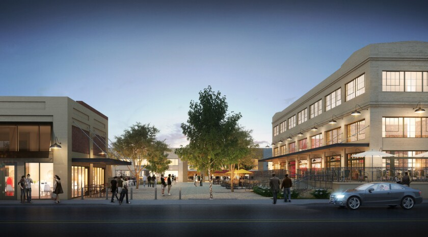 City Market South in downtown L.A., seen in this rendering, will include the Slanted Door and projects by chef Steve Samson and bartenders Pablo Moix and Steve Livigni.