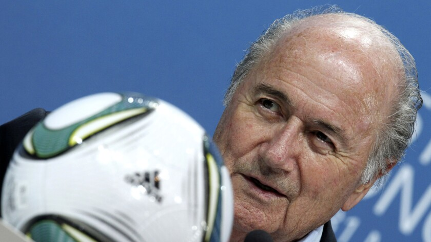 FIFA President Sepp Blatter speaks during a news conference at FIFA headquarters in Zurich, Switzerland, in June 2011.