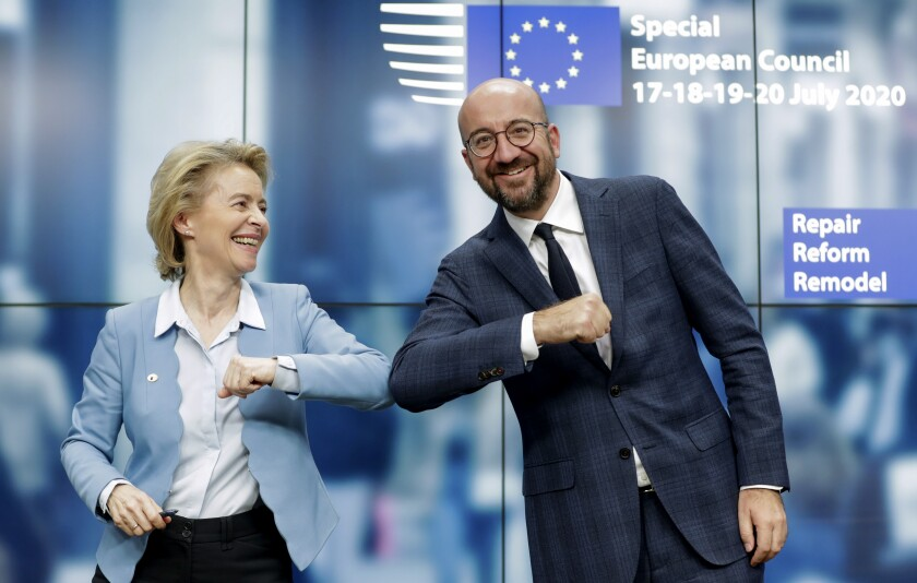 European Commission President Ursula von der Leyen and European Council President Charles Michel