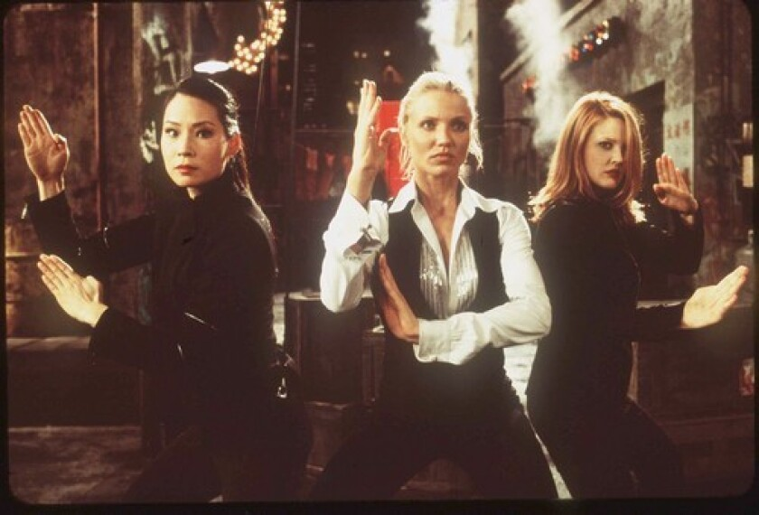 """Lucy Liu, Cameron Diaz and Drew Barrymore in """"Charlie's Angels."""""""