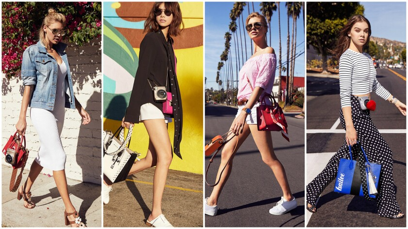 """A look at spring bags from Michael Kors featured in """"The Walk"""" campaign on the streets of Los Angeles."""