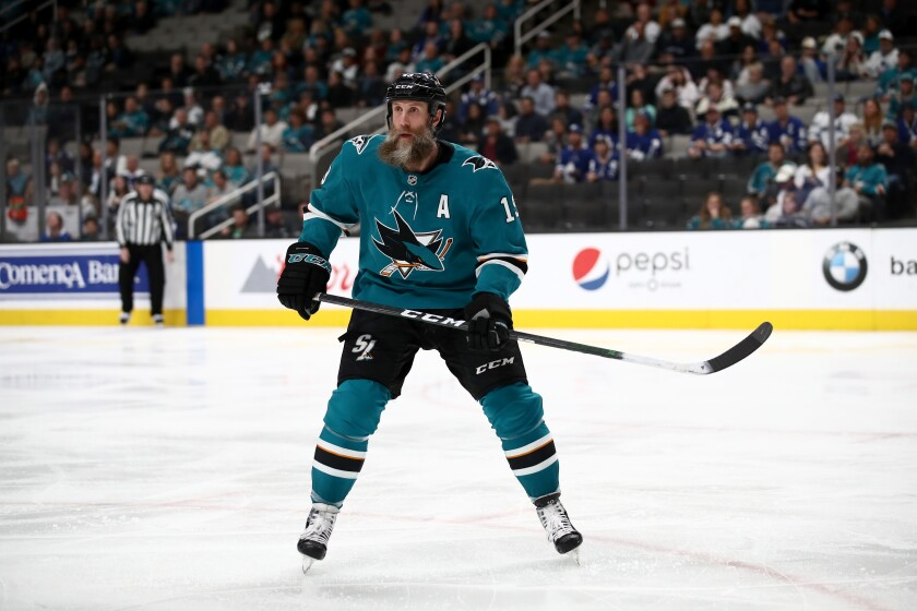 Joe Thornton and the San Jose Sharks will play their next three home games as scheduled without fans in the arena.