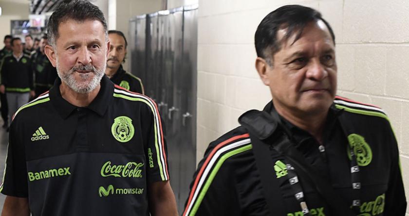 El entrenador colombiano del Tri, Juan Carlos Osorio (i), y su asistente, Pompilio Páez.