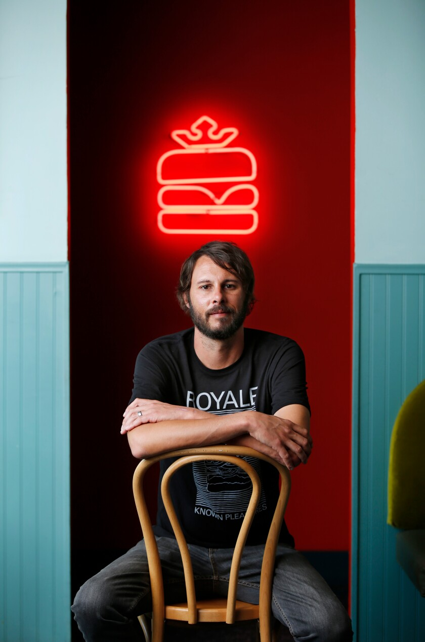 A photo of Chef Jordan Brownwood of Royale on Oct. 14, 2019.