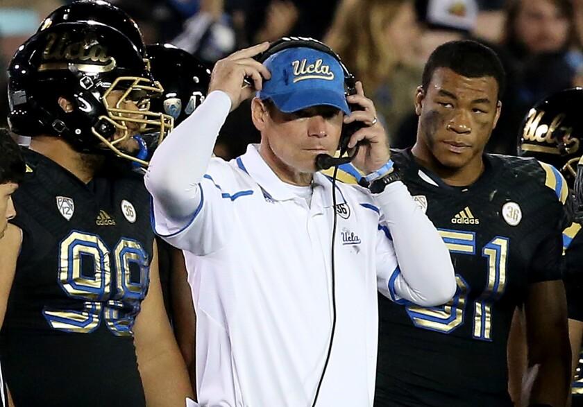 Three former UCLA football players sue school and coach Jim