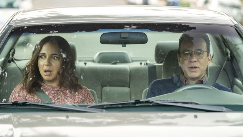 """Maya Rudolph and Fred Armisen in the television series, """"Forever."""" Credit: Colleen Hayes / Amazon Pr"""