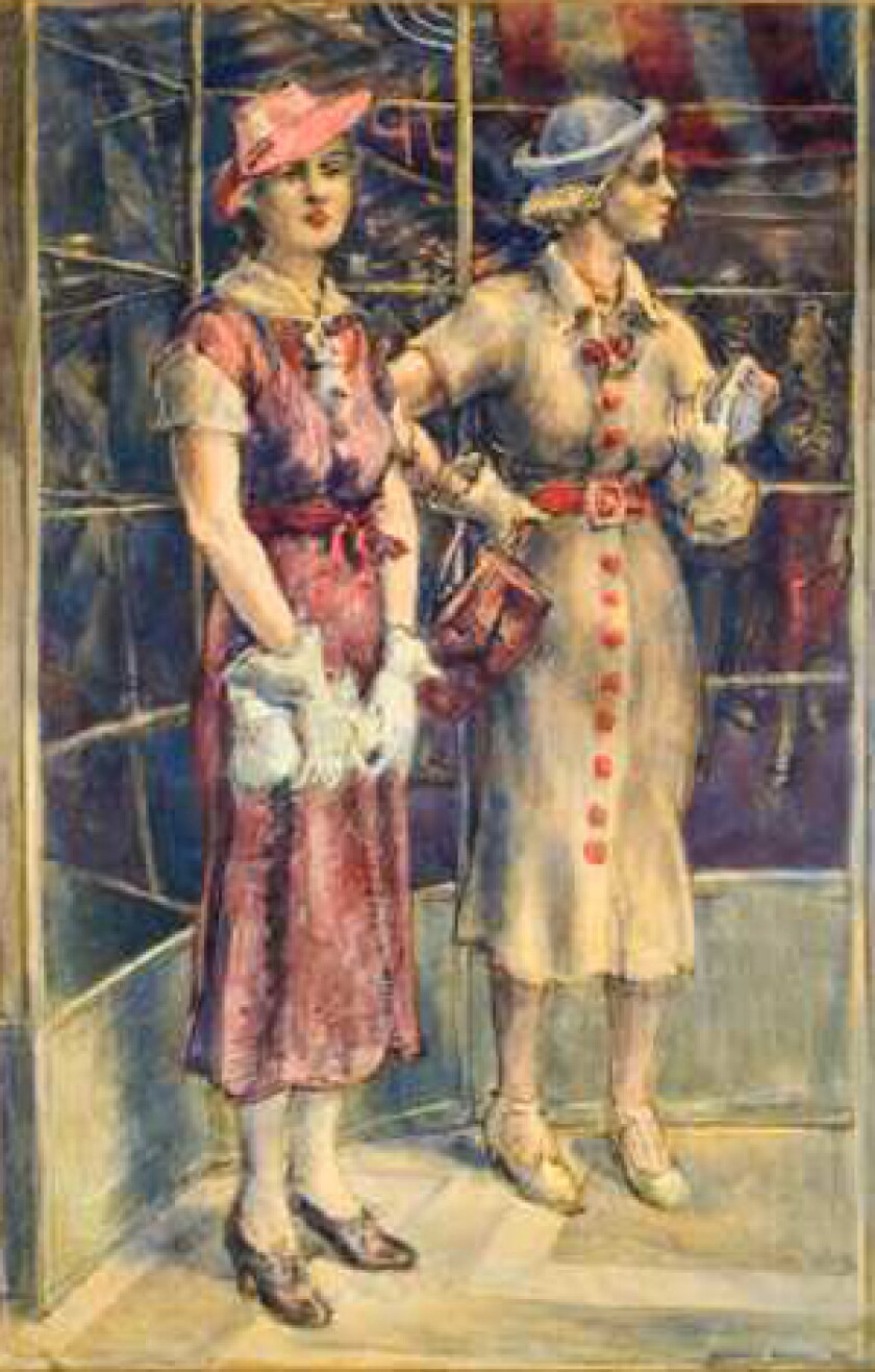 """ACQUISITION: U.S. artist Reginald Marsh's """" Red Buttons"""" (1936) is among works picked up by the Huntington."""