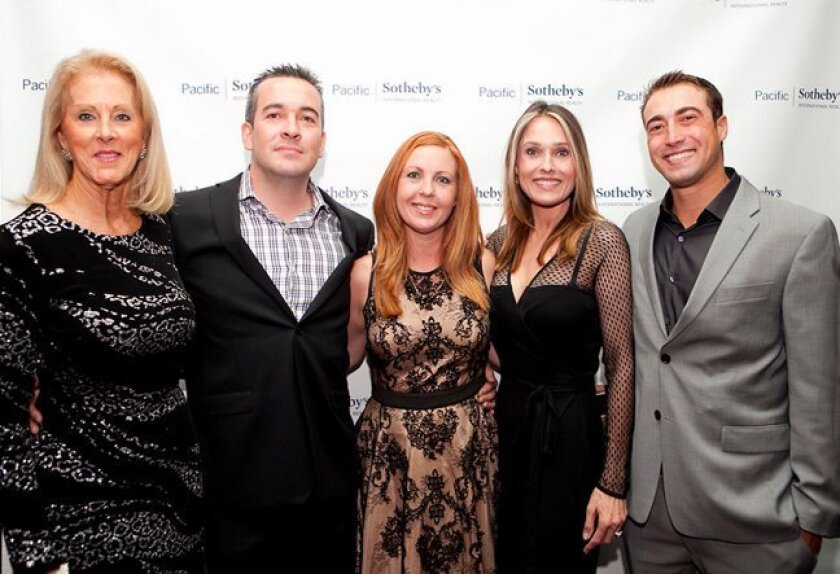 Pacific Sotheby's International Realty's Kathryn Murphy, Brandon White, Amber Anderson, Brynn Morales and Cody Wagner