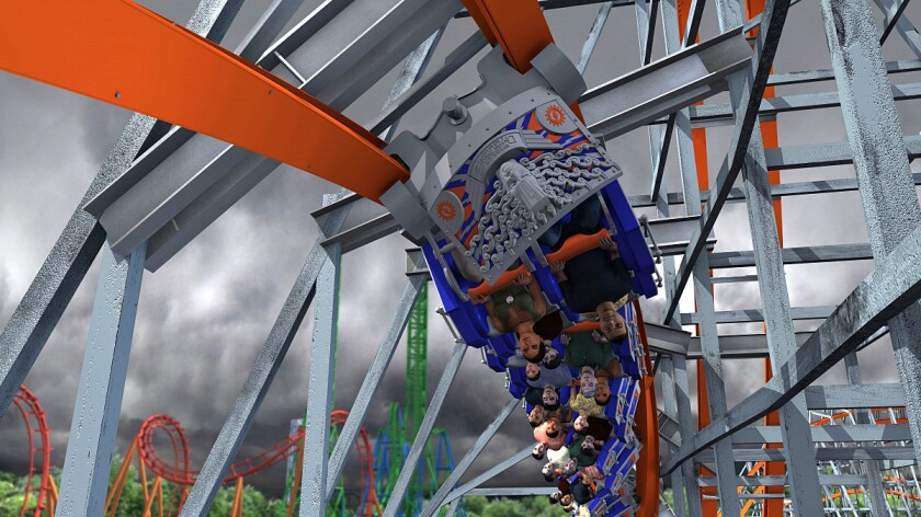 Wicked Cyclone looping wood-steel hybrid coaster coming to Six Flags New England in 2015.