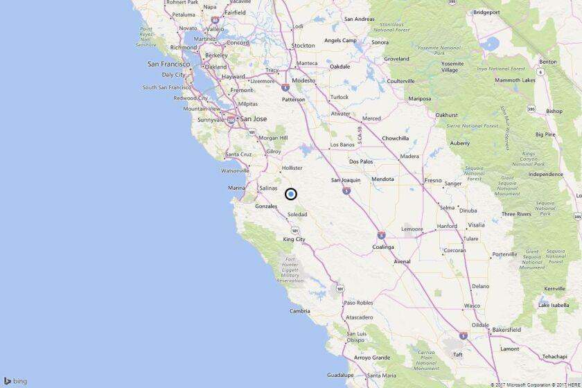 Earthquake: 3.0 quake strikes near Paicines, Calif.