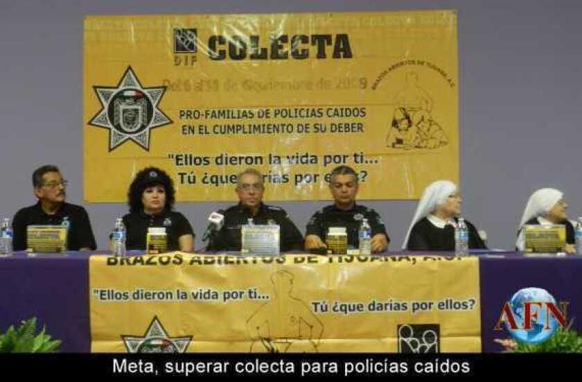 Meta, superar colecta para policías caídos