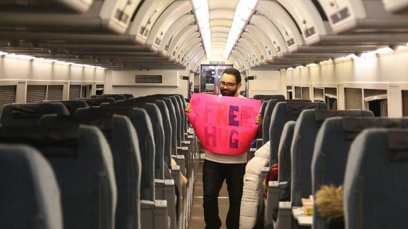 "Arié Moyal has traveled across North America giving ""free hugs"" since 2009.  Courtesy photo"