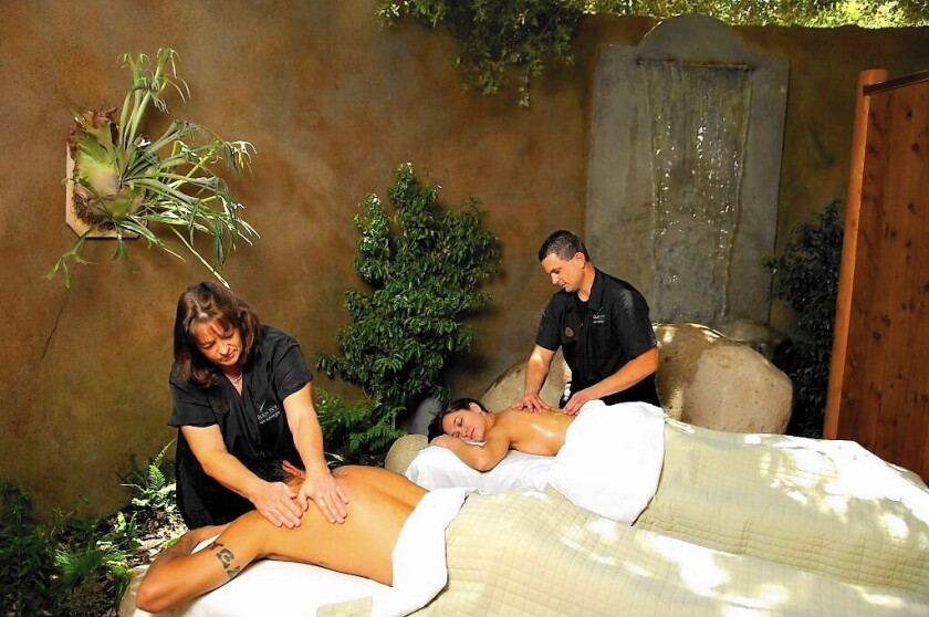 Couples massage at Glen Ivy Hot Sprints in Corona
