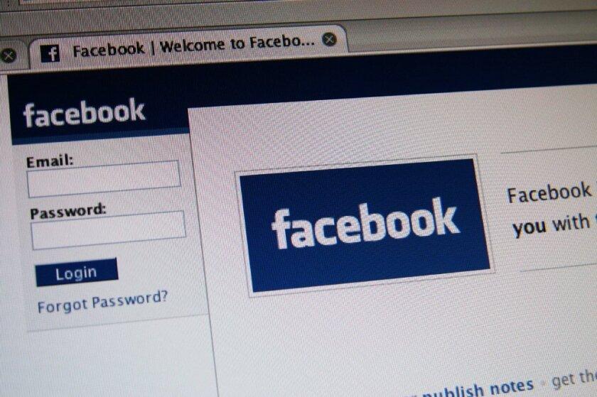 Facebook's login screen.