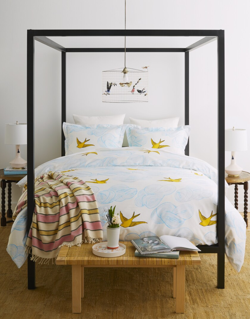 Queen-size Daydream duvet cover and shams by Hygge & West