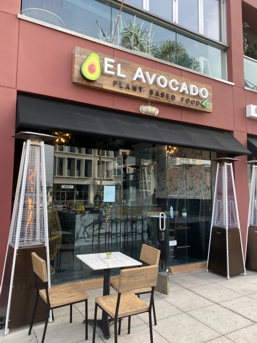 El Avocado, offering plant-based food, opened Jan. 4 at 1025 Prospect St. in La Jolla.