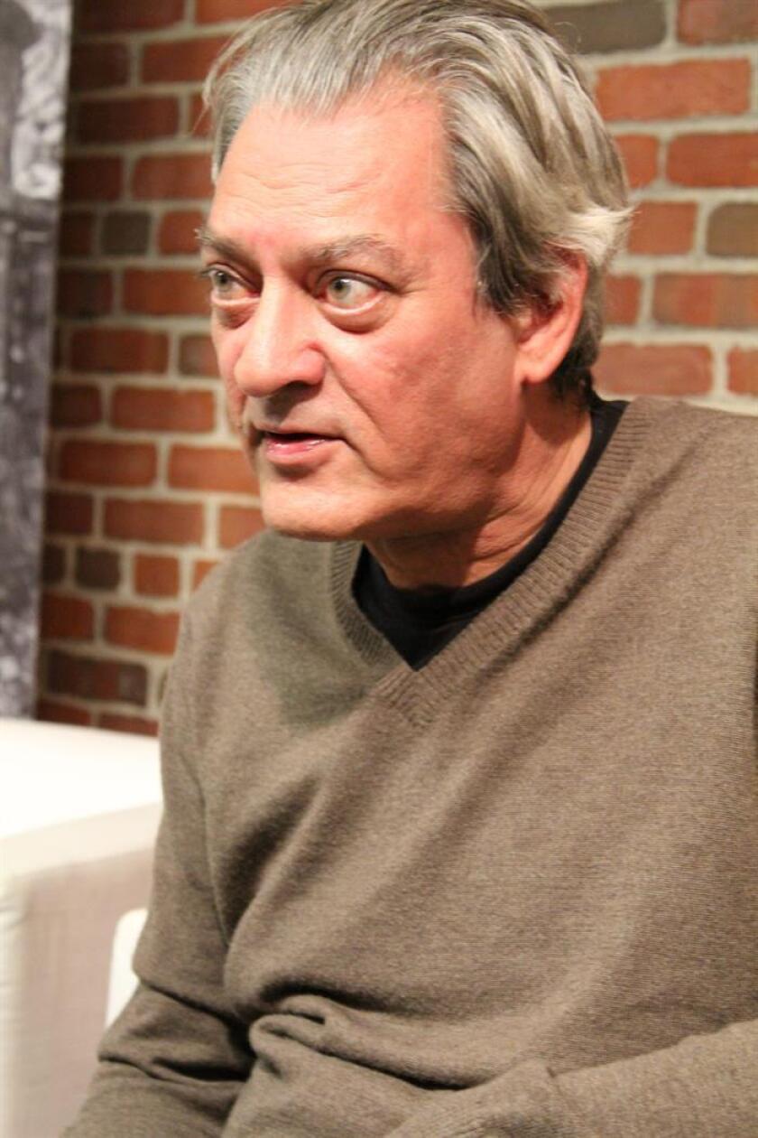 El escritor Paul Auster durante una entrevista. EFE/Archivo