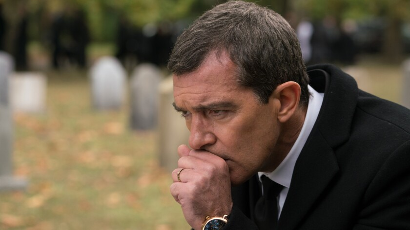 """(R-L) - Antonio Banderas in a scene from the movie """"Acts of Vengeance."""" Credit: Seban Films / Lionsg"""