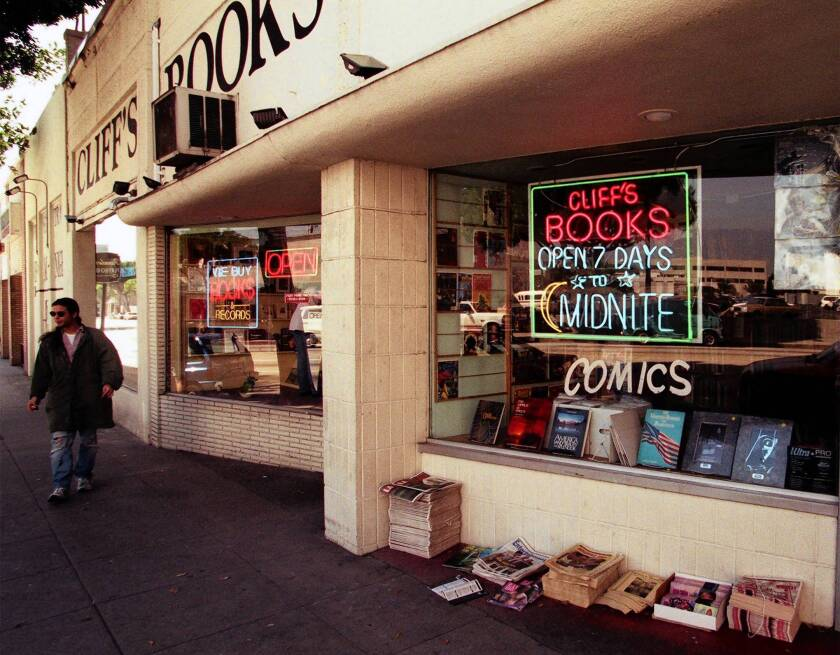 Cliff's was one of many bookstores that once lined a section of East Colorado Boulevard in Pasadena. Few remain.