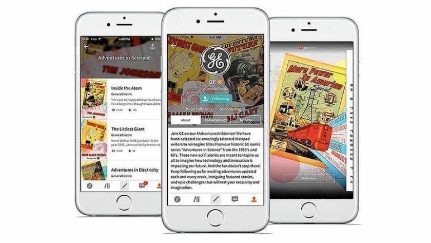 General Electric encargó a los autores de la aplicación narrativa Wattpad ficciones cortas acerca de jóvenes tecnólogos.