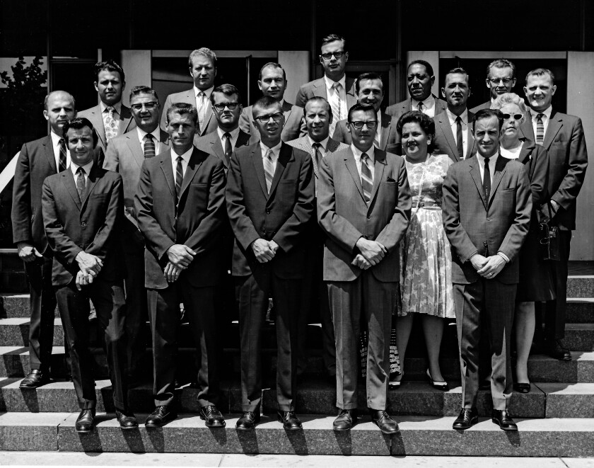 John Stanley Ford and IBM colleagues in the 1950s