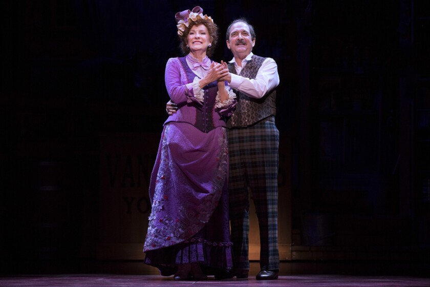 """Betty Buckley and Lewis J. Stadlen in """"Hello, Dolly!"""" National Tour - 2018. This National Tour of th"""