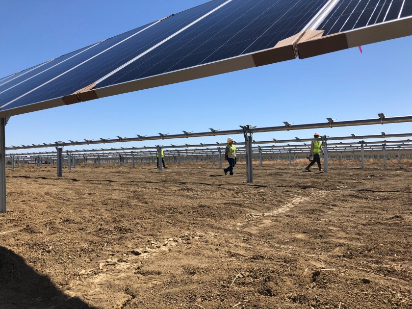 Westlands Solar Park under construction