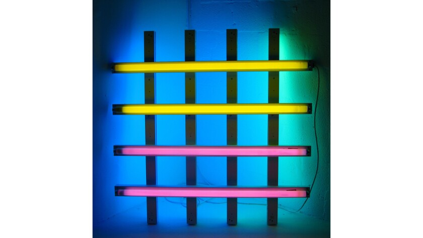 A 1977 sculpture by Dan Flavin on view at Miami's Margulies Collection in 2008.