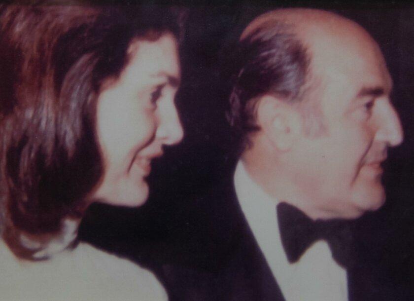 Jackie Onassis and Alejandro Orfila at the Kennedy Center in Washington, D.C. on May 14th, 1976. Photo courtesy the Orfila Family.